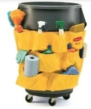 Rubbermaid JANITORIAL CLEANING CADDY pockets 32-44 gl trash can COMMERCIAL - NIP