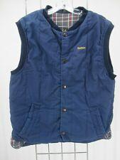 I8804 VTG Men's Barbour Snap-Front Plaid-Lined Trekker Waistcoat Vest Size M