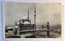 Egypt 1938 RPPC Cairo The Citadel Postcard City View Damaged Card