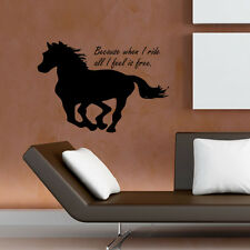 Horse Running Wall Decal Feel Free Quote Wall Decors Living Room Animal Decals
