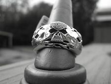 NIB Men's HARLEY-DAVIDSON Stainless Steel Willie G  B&S RING Size 12 Jewelry