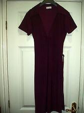 Ladies Miss Selfridge Purple Stretch Dress Size 12 Euro 38