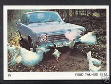 Americana Munich 1970 Card - Motor Cars - No 25 - Ford Taunus 13 M