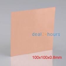 1PC 99.9% Pure Copper Cu Metal Sheet Plate Welding Brazing 0.8mm*100mm*100mm