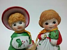 LOT 2 vtg bell ornaments 1978 Jasco figural Merri Bells