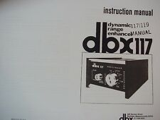 dbx 117 and 119 DYNAMIC EXPANDER INSTRUCTION MANUAL 17 Pages