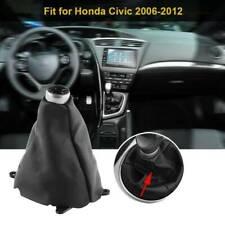 Manual Shift Shifter Boot Cover Stitch Fits Honda Civic 2006-2012 Free Shipping