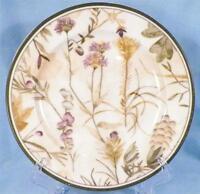 Verdiana Salad Plate 222 Fifth Fine China Purple & Yellow Flowers Nice Condition