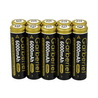 10x Garberiel Rechargeable 3.7V 6000mAh Li-ion 18650 Battery For LED Flashlight