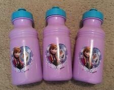 3 Disney Frozen Pull-Top Plastic Water Bottles 17.3 fl oz