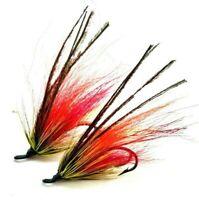 "WAPSI  ARCTIC FOX    /"" GREEN HIGHLANDER  /""   Nice  Hair Salmon Streamers"