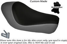 BLACK & GREY CUSTOM FITS HARLEY SPORTSTER LOW IRON 883 SOLO SEAT COVER