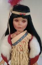 Pocahontas Native American Indian Girl Porcelain Doll Danbury Mint Susan Wakeen