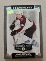 Mikko Rantanen 2019-20 UD Chronology Vol 2 Diamond Relic SP 24/36 Avalanche