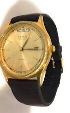 Vintage Titan Watch Date / Day Works Great