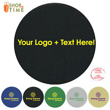 Personalized KOOZIE Coaster Round Printed W/ Logo /Text /Art  in 1 Color 250 QTY