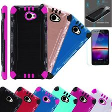 huawei phone cases. huawei ascend xt2 / xt 2/elate 4g brushed phone case cover+tempered glass cases c
