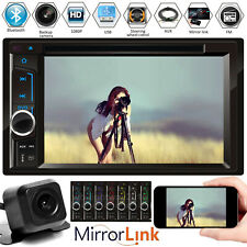6.2inch Car Stereo Radio Double Din FM AM Player Mirror Link For GPS w/ Camera