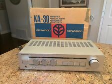 Working vintage Kenwood Ka-30 Stereo Amplifier Comes with Original box.