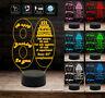BUON COMPLEANNO Lampada a led personalizzata 7 colori selezionabili con numero 8