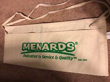 Menards Canvas Nail Apron Bag Cash Change Flea Market Garage sale pouch
