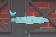 Vogeltränke MATZ BLAU, metall, Vogeltränke im Landhaus Shabby Chic