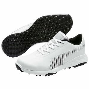 Puma Mens Grip Fusion Tech Spikeless Golf Shoe - White/Black