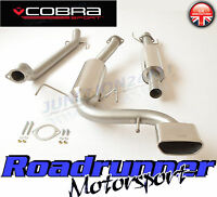 """Cobra Astra VXR H Exhaust System Stainless 2.5"""" Cat Back Resonated VX72 TP32 Tip"""