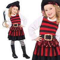 Amscan Toddler (4-6) Girl Halloween Pirate Deluxe Costume Little Lassie -  NWT