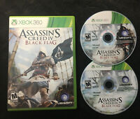 Assassin's Creed IV 4 Black Flag — Cleaned/Tested! Free Ship! (Xbox 360, 2013)