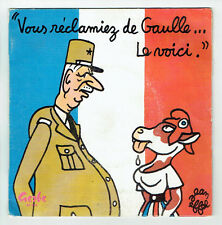 DE GAULLE ...LE VOICI Vinyle 45T MAUBEC MARISCHAL Jean EFFEL Comique GERBE 45344