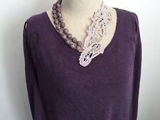 Womens Designer BUL Oversize Purple Knit Scoop Neck Jumper Size Large