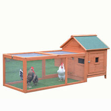 Chicken Coop 1.8M Classic Wooden Chicken House With Egg Cage and Big Run P055