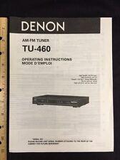 denon tu-460 tuner original owners manual tu460