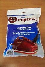 AiRIDER AIR RIDER CANISTER VACUUM CLEANER 12 PK. FILTER BAGS* FACTORY DIRECT*