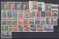 AH4981/ CZECHOSLOVAKIA – 1928 / 1934 MINT MNH SEMI MODERN LOT – CV 255 $