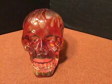 Red Transluscent Skull Halloween Mythical Fantasy Veronese Studio Collection