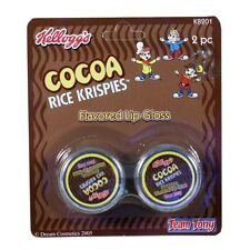 Kelloggs Cocoa Rice Krispies Chocolate Flavored Lip Gloss 2 Pack party favor NEW