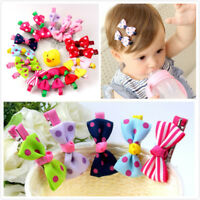 10pcs Ribbon Bow Hair Clip Barrette Hairpin Hair Accessories Kids Baby Girls New