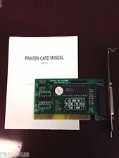 25-Pin Parallel Printer Port Card 8-bit ISA Interface Select Address/ IRQ, NEW