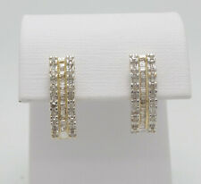 Zales 1/2CT Round Diamond Cluster Stud Earrings 10K Yellow Gold