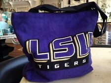 LSU Louisiana State University Tigers Cotton Woven Tapestry Tote Bag NEW USA