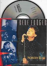 RENE FROGER - Nobody else CD SINGLE 3TR Europop Dutch Cardsleeve 1990 RARE!