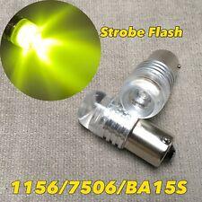 STROBE FLASH Reverse Backup YELLOW 1156 1141 P21W BA15S SMD LED Bulb W1 A