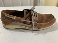 Men's Sperry Top Sider Brown Boat Dress Shoes Size 9.5