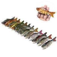 Fishing Lure 6-Segment Fishing Hard Lure Crankbait With 2 Hook Fishing Bait-