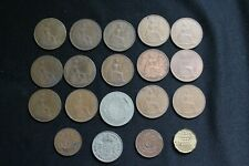 New listing Large Lot Of English Pennies, Half pennies, Half crown, more 1919-1967 19 pieces
