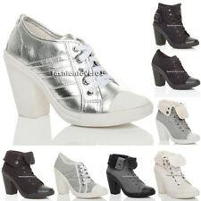 Block Heel Booties Textile Boots for Women