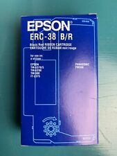 NEW EPSON ERC-38 B/R Ink Ribbons,Black/Red PACK OF 9 Cartridges GENUINE