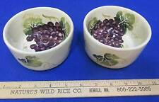 Ramekin Small Bowls Grape Design Tuscany Ceramic Pair Set Linen N Things